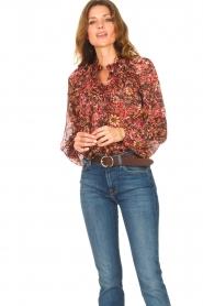 ba&sh |  Printed blouse Gaelle | bordeaux  | Picture 4