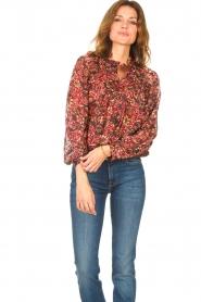 ba&sh |  Printed blouse Gaelle | bordeaux  | Picture 5