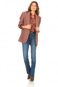 ba&sh |  Printed blouse Gaelle | bordeaux  | Picture 3