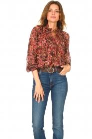 ba&sh |  Printed blouse Gaelle | bordeaux  | Picture 2