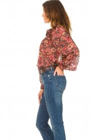 ba&sh |  Printed blouse Gaelle | bordeaux  | Picture 6