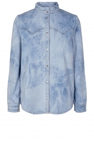 Sofie Schnoor |  Jeans blouse jacket Silke | blue  | Picture 1