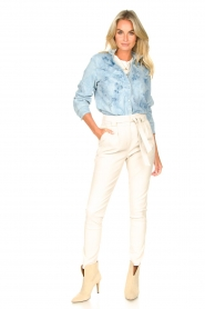 Sofie Schnoor |  Jeans blouse Silke | blue  | Picture 8