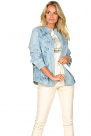 Sofie Schnoor |  Jeans blouse Silke | blue  | Picture 2