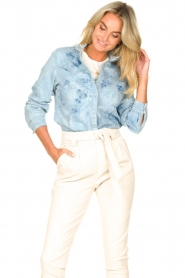 Sofie Schnoor |  Jeans blouse Silke | blue  | Picture 4