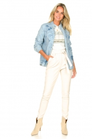 Sofie Schnoor |  Jeans blouse Silke | blue  | Picture 3