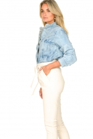 Sofie Schnoor |  Jeans blouse Silke | blue  | Picture 5