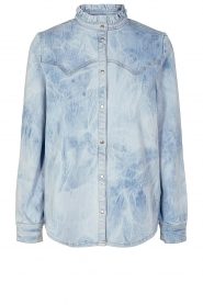 Sofie Schnoor |  Jeans blouse Silke | blue  | Picture 1