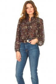 ba&sh |  Printed blouse Gaelle | brown  | Picture 2
