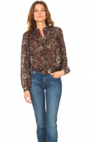 ba&sh |  Printed blouse Gaelle | brown  | Picture 4