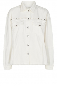 Sofie Schnoor |  Studded blouse Alaia | white  | Picture 1