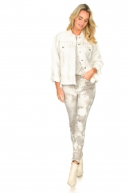 Sofie Schnoor |  Studded blouse Alaia | white  | Picture 3