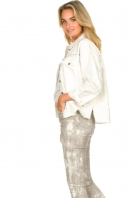 Sofie Schnoor |  Studded blouse Alaia | white  | Picture 6