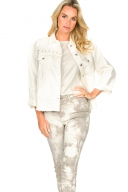Sofie Schnoor |  Studded blouse Alaia | white  | Picture 2
