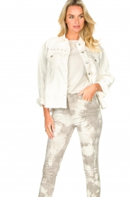 Sofie Schnoor |  Studded blouse Alaia | white  | Picture 5