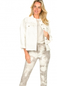 Sofie Schnoor |  Studded blouse Alaia | white  | Picture 4