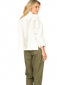 Sofie Schnoor |  Studded blouse Alaia | white  | Picture 7