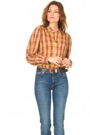 ba&sh |  Roze | Ruit blouse Sandy  | Picture 4