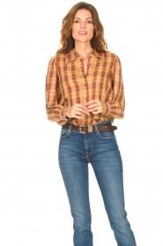 ba&sh |  Roze | Ruit blouse Sandy  | Picture 2