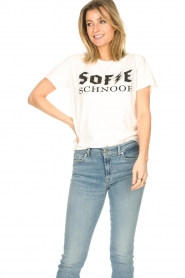 Sofie Schnoor |  Cotton Logo T-shirt Cady | white  | Picture 2