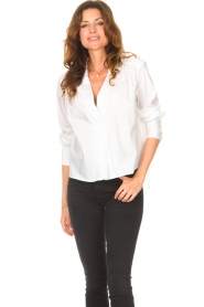 ba&sh |  Cotton blouse Dido | white  | Picture 4