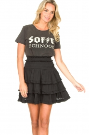Sofie Schnoor |  Cotton logo T-shirt Cady | black  | Picture 4