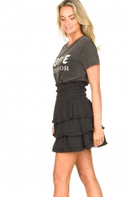 Sofie Schnoor |  Cotton logo T-shirt Cady | black  | Picture 6
