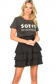 Sofie Schnoor |  Cotton logo T-shirt Cady | black  | Picture 5