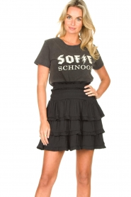 Sofie Schnoor |  Cotton logo T-shirt Cady | black  | Picture 2
