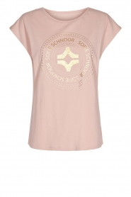 Sofie Schnoor |  T-shirt with print Nicoline | pink  | Picture 1