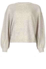 ba&sh |  Knitted sweater with balloon sleeves Yann | grey  | Picture 1
