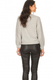 ba&sh |  Knitted sweater with balloon sleeves Yann | grey  | Picture 7