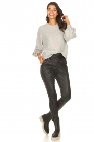 ba&sh |  Knitted sweater with balloon sleeves Yann | grey  | Picture 3