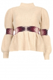 ba&sh |  Sweater with waist detail Octave | natural  | Picture 1