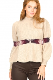 ba&sh |  Sweater with waist detail Octave | natural  | Picture 8
