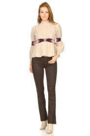 ba&sh |  Sweater with waist detail Octave | natural  | Picture 4
