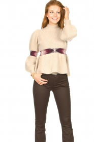 ba&sh |  Sweater with waist detail Octave | natural  | Picture 5