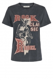 Sofie Schnoor |  Printed T-shirt Cady Rock | black  | Picture 1