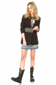 Sofie Schnoor |  Printed T-shirt Cady Rock | black  | Picture 3