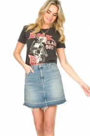 Sofie Schnoor |  Printed T-shirt Cady Rock | black  | Picture 4