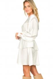 Sofie Schnoor |  Dress with pleated details Regina | white  | Picture 5