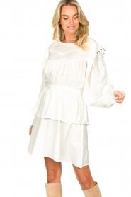 Sofie Schnoor |  Dress with pleated details Regina | white  | Picture 2