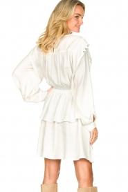 Sofie Schnoor |  Dress with pleated details Regina | white  | Picture 6