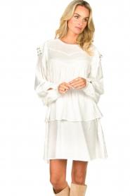 Sofie Schnoor |  Dress with pleated details Regina | white  | Picture 4
