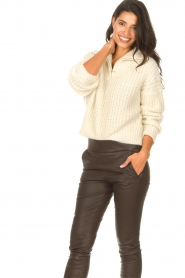 ba&sh |  Knitted sailor sweater Beltan | natural  | Picture 4