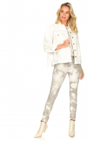 Sofie Schnoor |  Jeans with tie dye effect Jullia | grey  | Picture 3