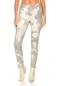 Sofie Schnoor |  Jeans with tie dye effect Jullia | grey  | Picture 4