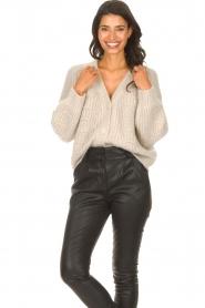 ba&sh |  Knitted cardigan Beliz | beige  | Picture 5