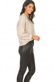 ba&sh |  Knitted cardigan Beliz | beige  | Picture 6