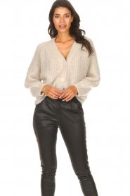 ba&sh |  Knitted cardigan Beliz | beige  | Picture 2